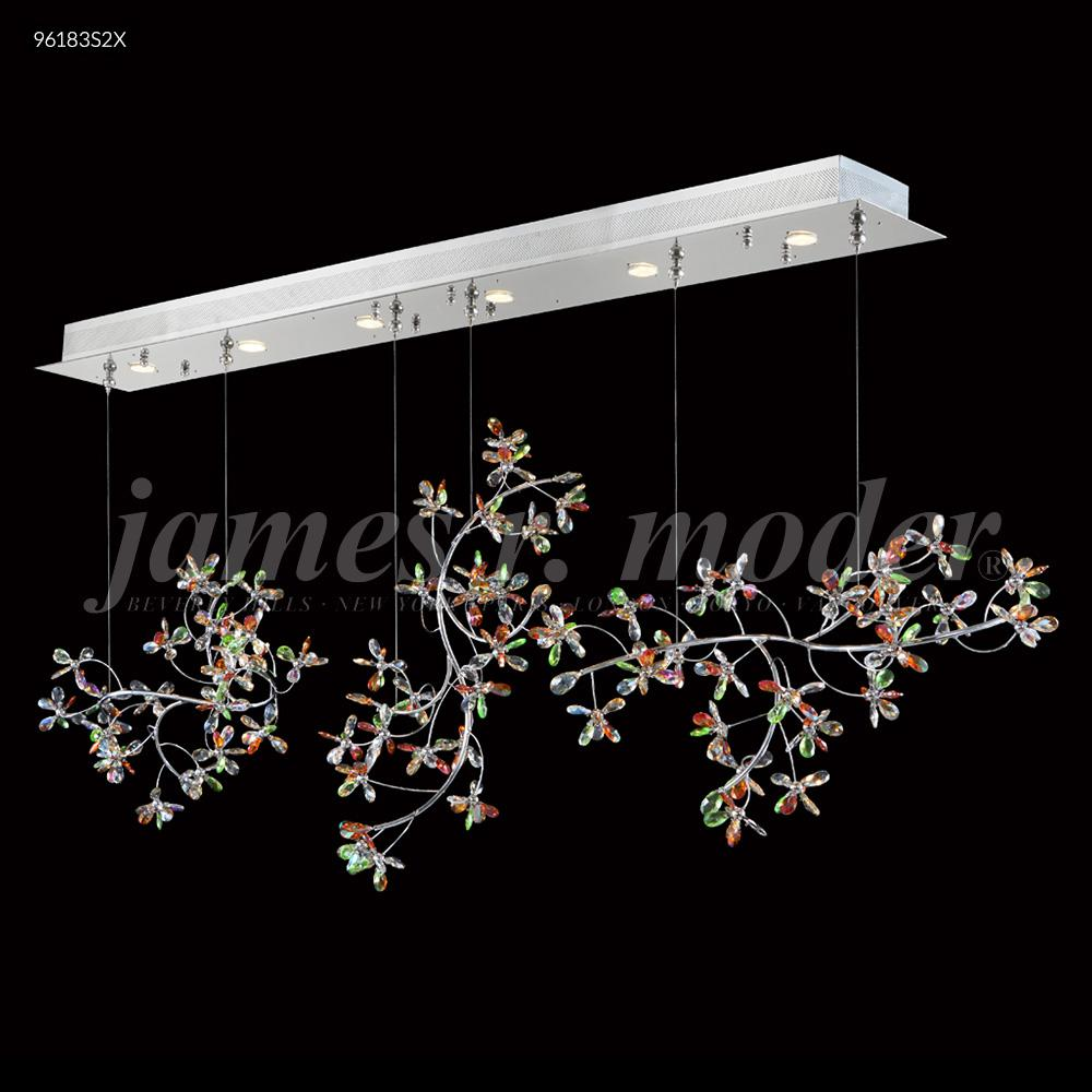 James Moder Chandeliers: Continental Fashion Floral Chandelier : 96183S22   Good Friend Electric,Lighting